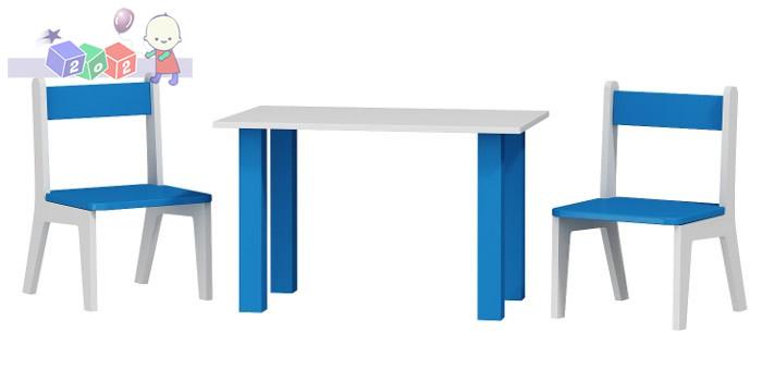 Krzesełka 2 szt + stolik komplet dla dzieci 50x80x54