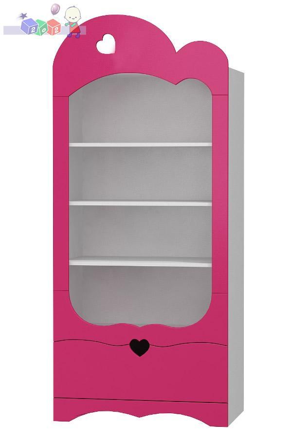 Regał z półkami i szufladą Romantic 183x80x47