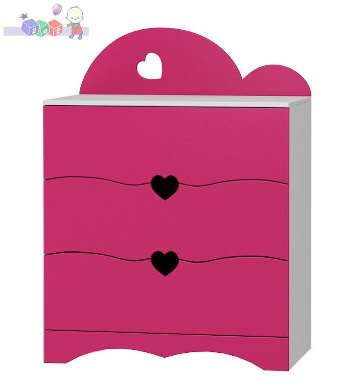 Komoda meblowa Romantic 3 szuflady 108x81x49