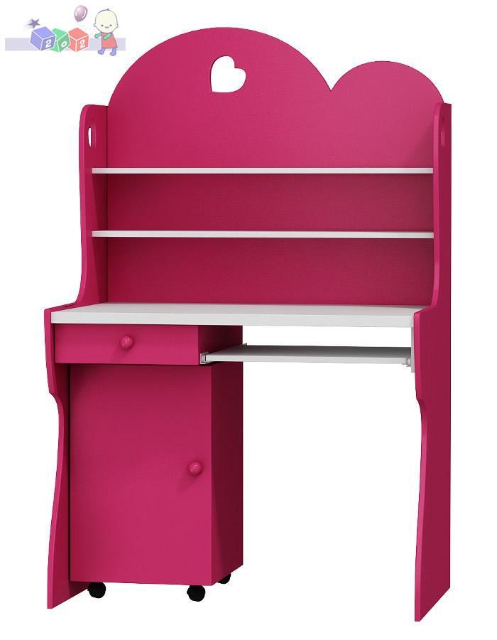 Biurko z nadstawką do pokoju dla dziewczynki Romantic 161x100x60
