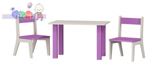Stolik i 2 krzesełka komplet 50x80x54h