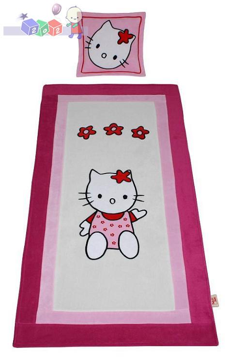 Narzuta na łóżeczko 160x80 z poduszką Kotek BabyBest