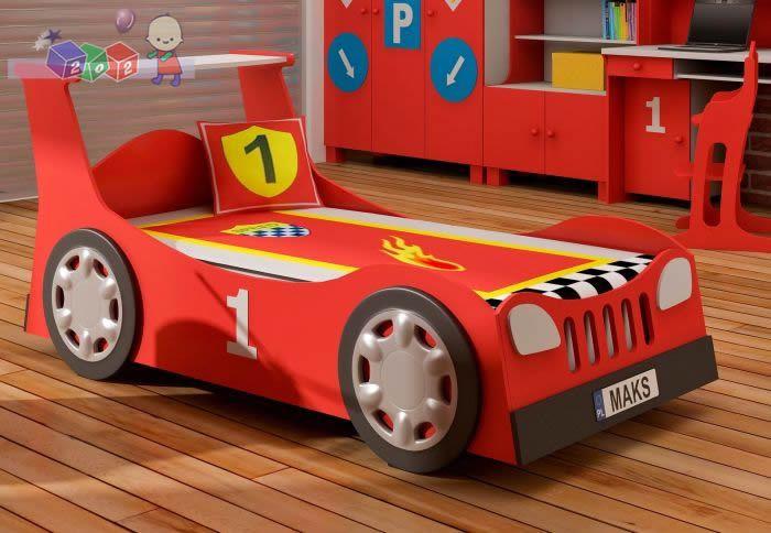 Łóżko młodzieżowe samochód standard po Tuningu + schowek na pościel 204x98