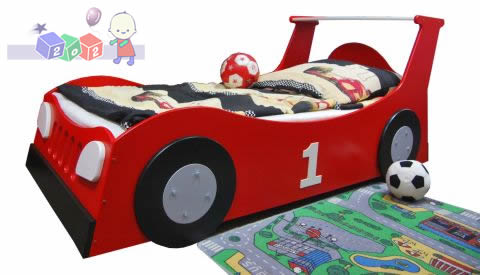 Łóżko samochód Standard z schowkiem na pościel 204x98 - Baby Best kolekcja Samochód Turbo Car