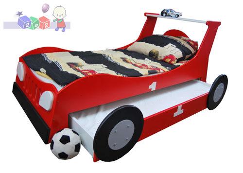 Łóżko samochód standard z wzmacnianą szufladą służącą jako drugie łóżko 204x98 - Baby Best kolekcja Samochód Turbo Car