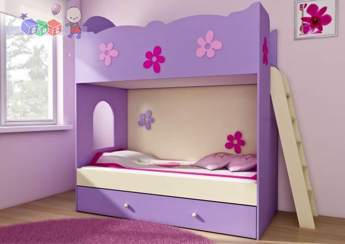Piętrowe łóżko dla dzieci i młodzieży Clasic z drabinką  202x184x96 wys łóżek 35cm i 135cm