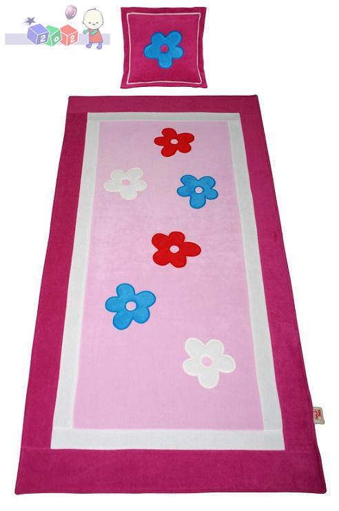 Narzuta na łóżko kolekcja Flower 180x90 + poduszka