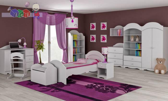 Zestaw mebli dla dziecka szafa dwudrzwiowa + łóżko + komoda 3 szuflady
