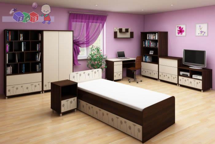 Zestaw mebli młodzieżowych Daisy Baby Best komoda 3 szulfady + szafa + łożko