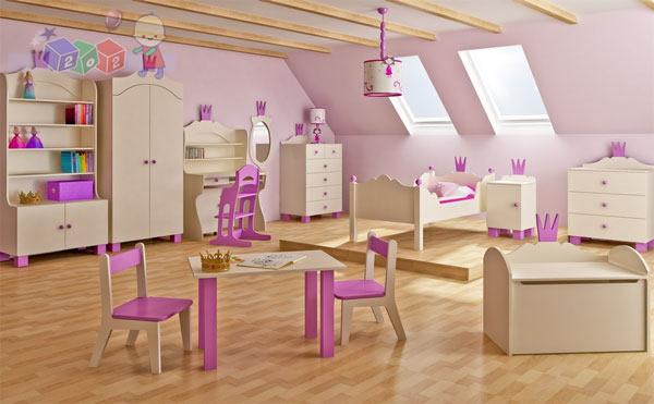 Zestaw mebli dziecięcych szafa komoda łóżko kolekcja Korona Baby best