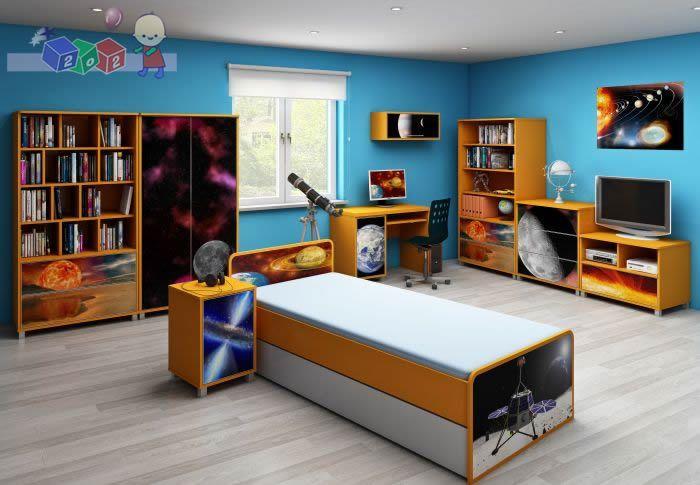 Zestaw szafa + komoda + łóżko kolekcja Kosmos Baby Best