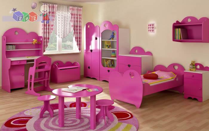 Romantic zestaw mebli dla dziewczynki szafa + łóżeczko + komoda 3 szuflady