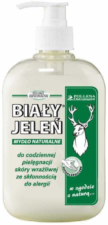 Hipoalergiczne mydło naturalne w płynie Biały Jeleń 500ml