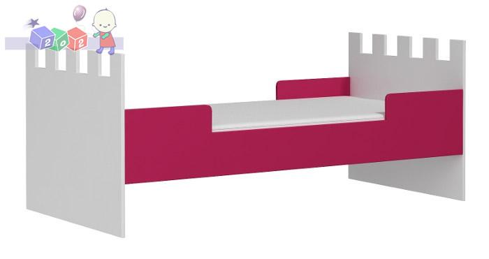 Łóżko Zamek niskie pod antresolę lub wolno-stojące 180x90
