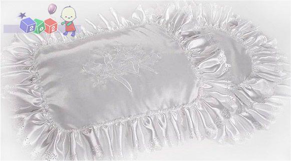 Satynowy haftowany śpiworek do chrztu