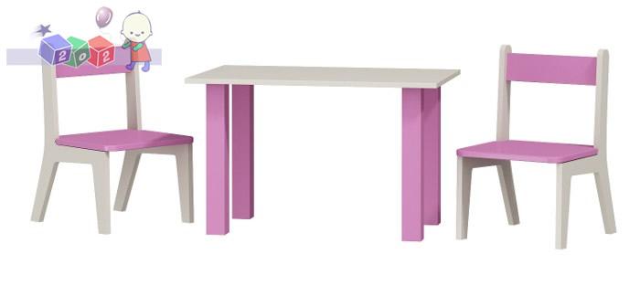 Zestaw stolik z dwoma krzesełkami do pokoju dziecięcego z serii Classic, Baby Best