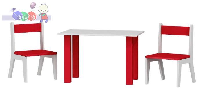 Stolik z dwoma krzesełkami w komplecie 50x80x54 cm - Baby Best kolekcja Samochód Turbo Car