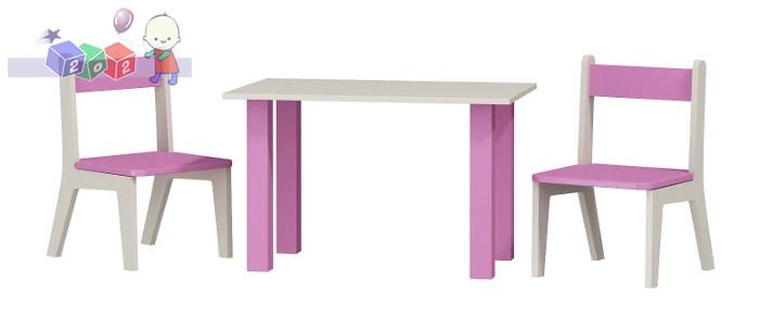 Stolik dla dziecka + 2 krzesełka 50x80x54h