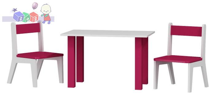 Stolik dla dziecka + 2 krzesełka komplet 50x80x54h