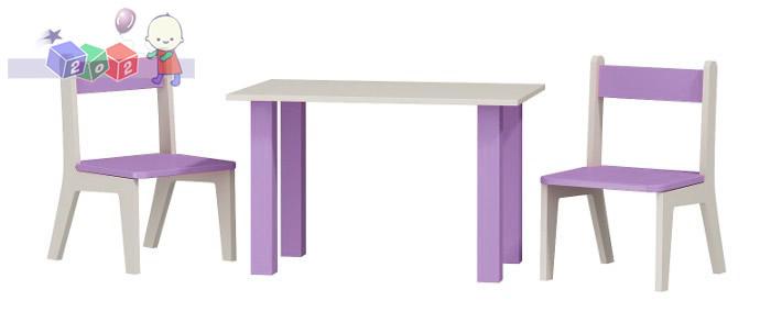 Stoliczek + 2 krzesełka meble dla dzieci 50x80 h54
