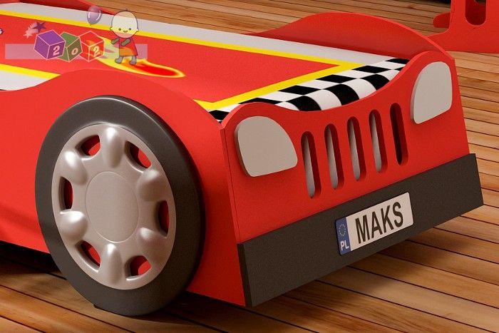 Tablica rejestracyjna z imieniem do łóżeczka Samochód Baby Best Turbo Car