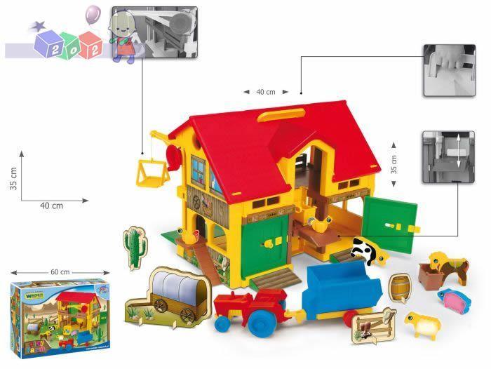Duży domek - farma  play farm Wader 254550