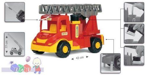 Duża straż pożarna z drabiną i możliwością gaszenia pożarów Wader 32170