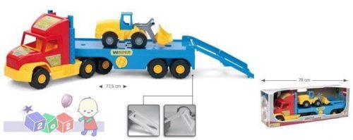Duży truck laweta transportowa + mała ładowarka Wader 36520