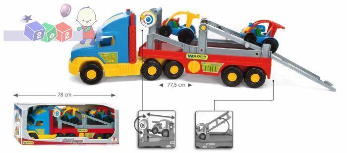 Super Truck z Buggy - samochód z lawetą i dwoma samochodzikami Wader 36630