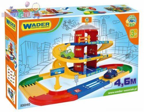 Trzypoziomoway parking z trasą 4,6 m zabawki Wader 53040
