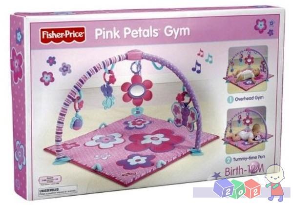 Różowa mata edukacyjna z motylkami Pink Petals Gym Fisher Price