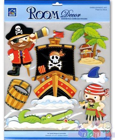 Sticker Boo - dekoracja ścienna pirat