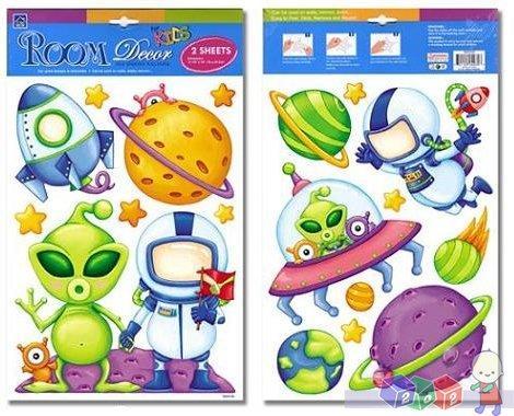 Sticker Boo - dekoracje ścienne kosmici