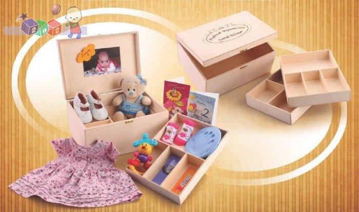 Praktyczny Kuferek Wspomnień do przechowywania pamiątek i dziecięcych drobiazgów