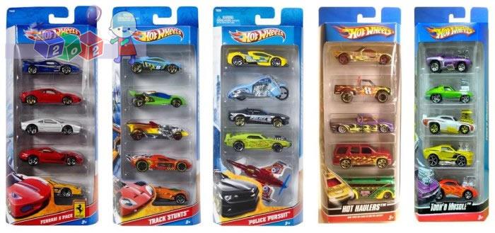 Hot Wheels zestaw 5 małych samochodzików pięciopak