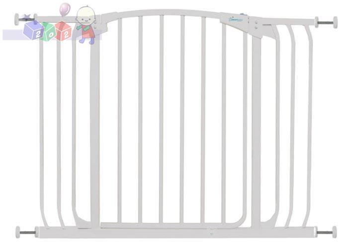 Bramka zabezpieczająca Dreambaby wysokość 75 cm - szerokość 97-108 cm biały F170W