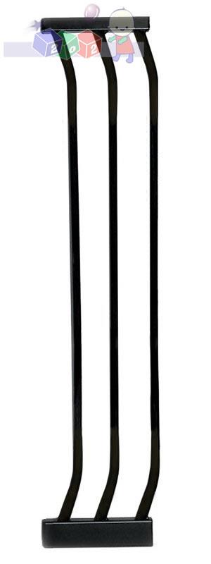 Rozszerzenie do bramki bezpieczeństwa Dreambaby wys. 75 cm o szerokości 18 cm F171B czarne