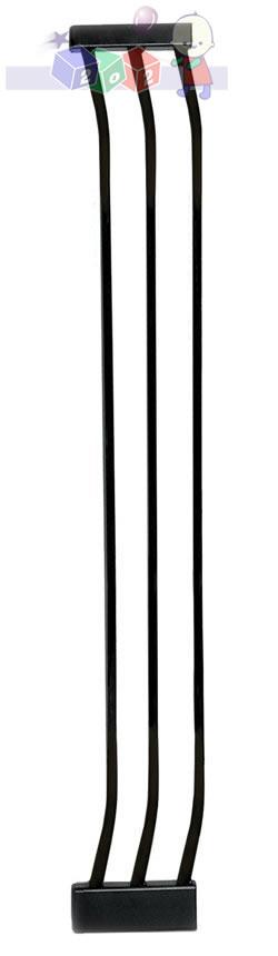 Rozszerzenie bramki zabezpieczającej Dreambaby o 18 cm - wysokość 1m F193B czarne