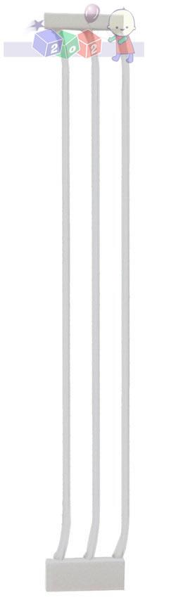Rozszerzenie bramki zabezpieczającej Dreambaby o 18 cm - wysokość 1m F193W białe