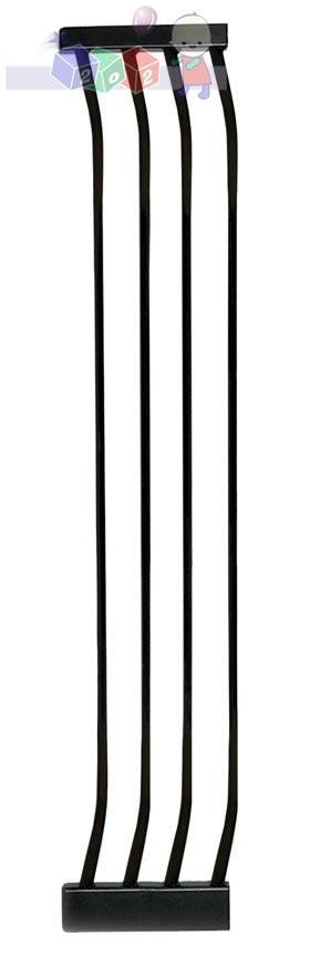 Rozszerzenie bramki zabezpieczającej Dreambaby o 27 cm - wysokość 1m F194B czarne