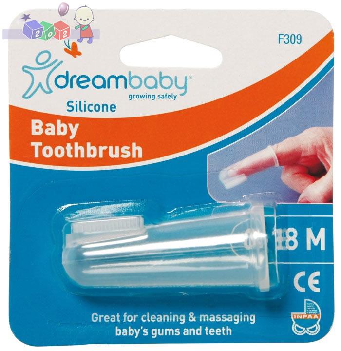 Silikonowa szczoteczka do zębów Dreambaby zakładana na palec
