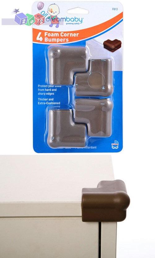 Nakładka piankowa zabezpieczająca ostre narożniki Dreambaby 4 szt. brązowe