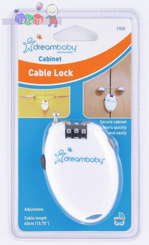 *Zamknięcie elastyczne z szyfrem Dreambaby - chroni szafki przed otwieraniem