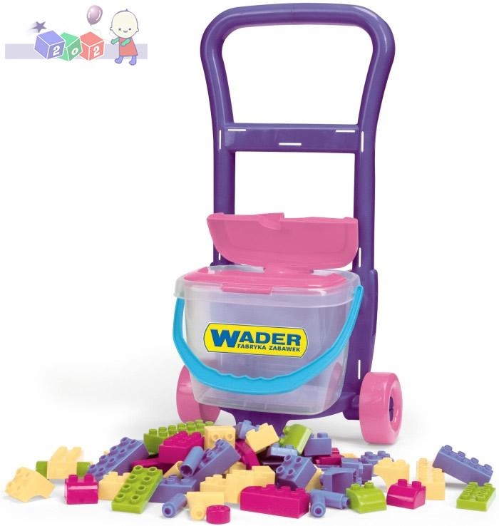 *Wózek z klockami - zestaw dla małego budowniczego  Wader 10973