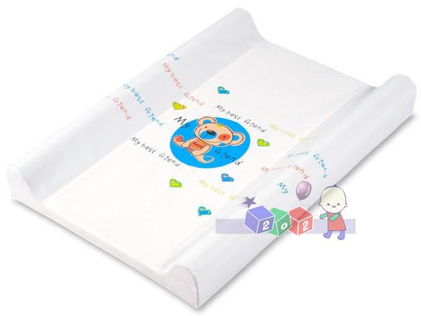 Profilowany przewijak duży na łóżeczko Berber twardy 80 x 50 cm