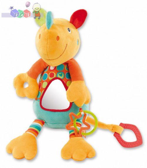 *Zabawka wibrująca z lusterkiem - nosorożec River Gang Fehn