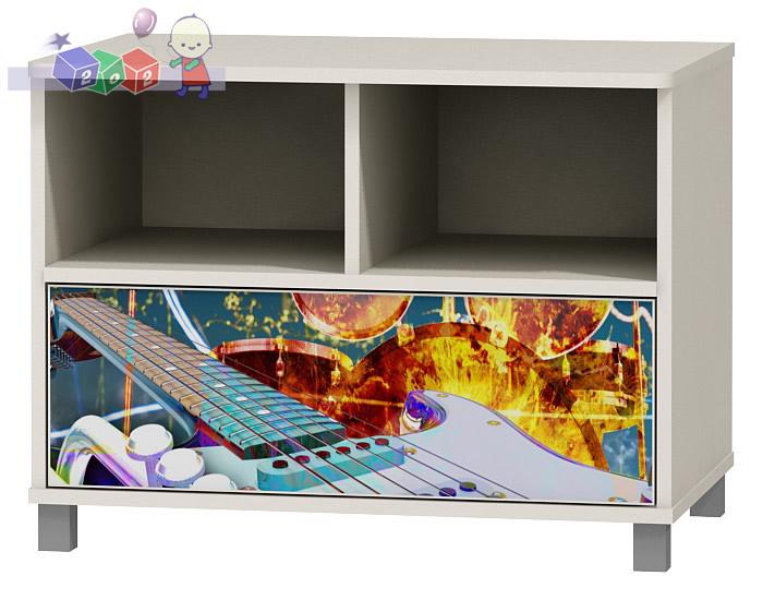 Stolik RTV - szafka pod telewizor z kolekcji Music Baby Best 61x110x54 cm