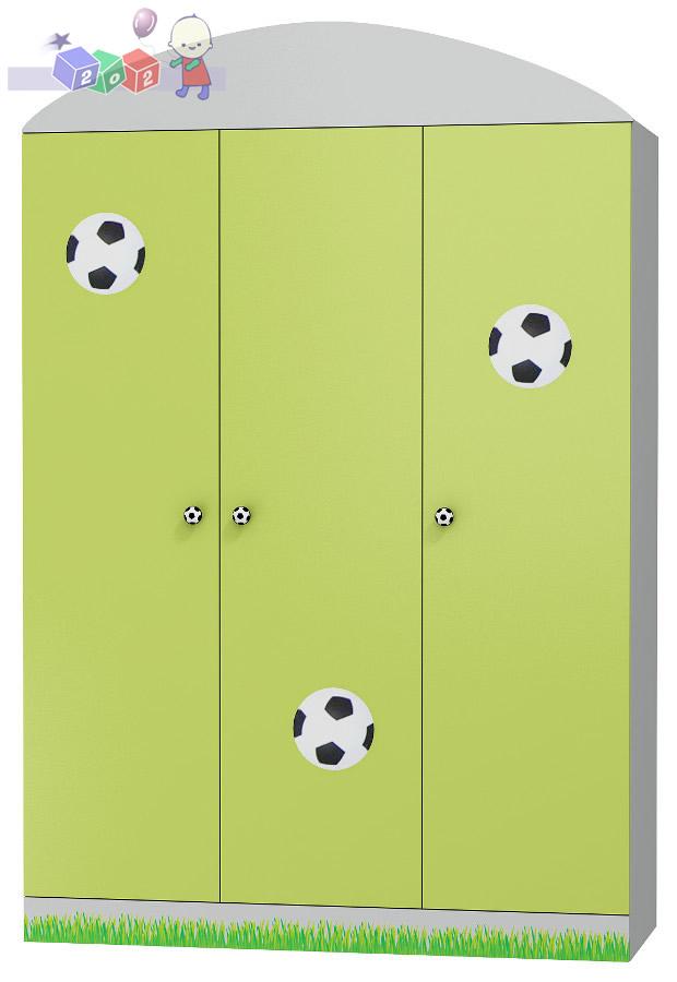 Duża szafa trzydrzwiowa kolekcja piłkarska - meble Baby Best 200x135x52 cm