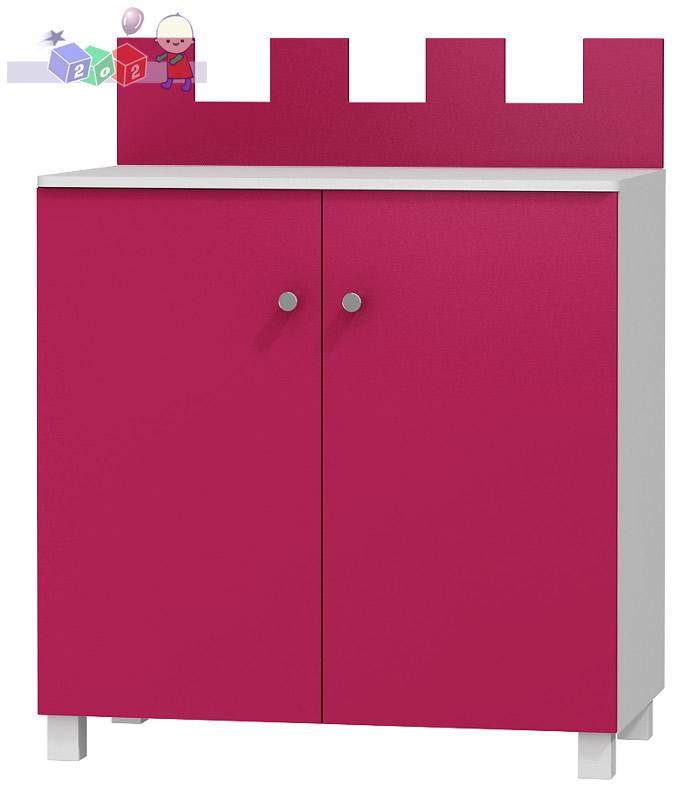Dwudrzwiowa szafka Baby Best do zestawu mebli Zamek 111x81x49 cm