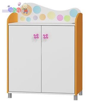 Szafka 2-drzwiowa Rainbow z kolekcji mebli Baby Best 110x80x45 cm